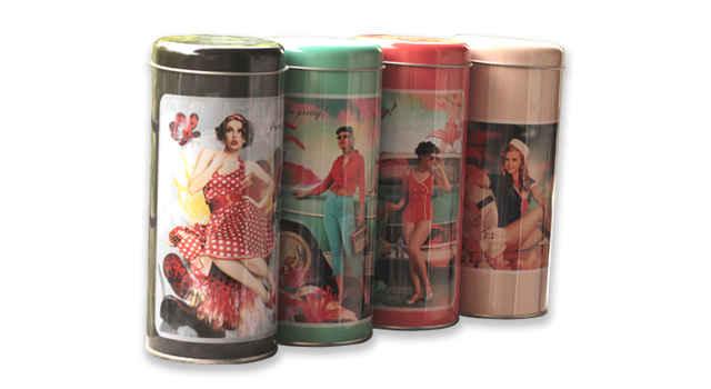 Retro Lady Storage Tins from Zansaar (www.zansaar.com)