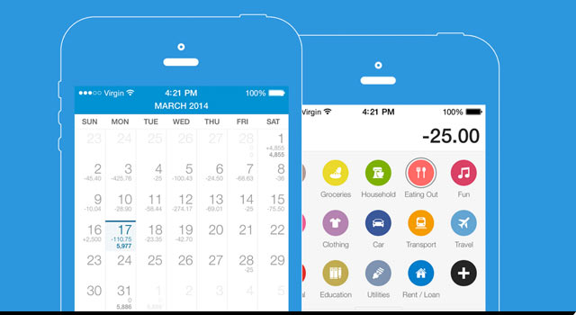 Expenditure tracking app, Dollarbird