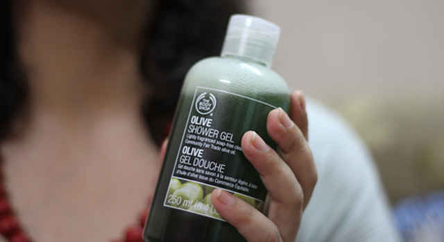 Body Shop's Olive Shower Gel has a mild scent