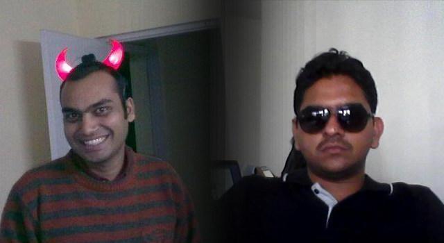 Giveter founders Mayank Bhangadia (L) and Avinash Saxena